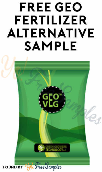 FREE GEO Fertilizer Alternative Sample