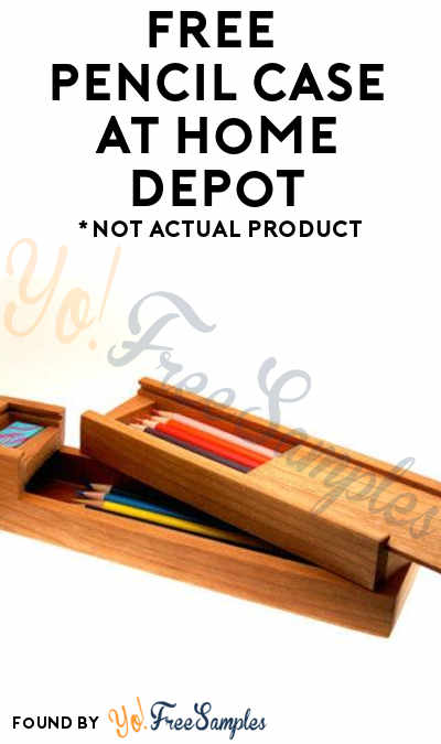 FREE Pencil Case At Home Depot On September 2nd 2017 9AM-12PM