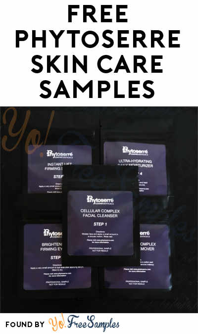 FREE Phytoserre Skin Care Samples