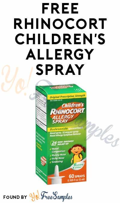 FREE Rhinocort Children's Allergy Spray From Home Tester Club (Survey Required)