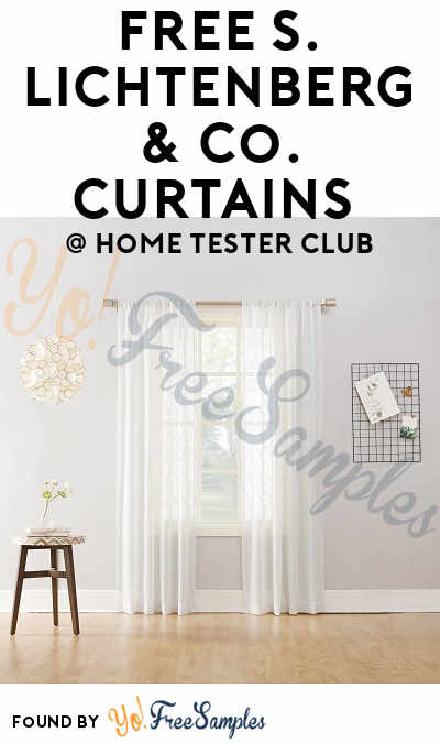 FREE S. Lichtenberg U0026 Co. Curtains From Home Tester Club (Survey Required)