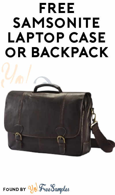 FREE Samsonite Laptop Case or Backpack From ViewPoints (Survey Required)
