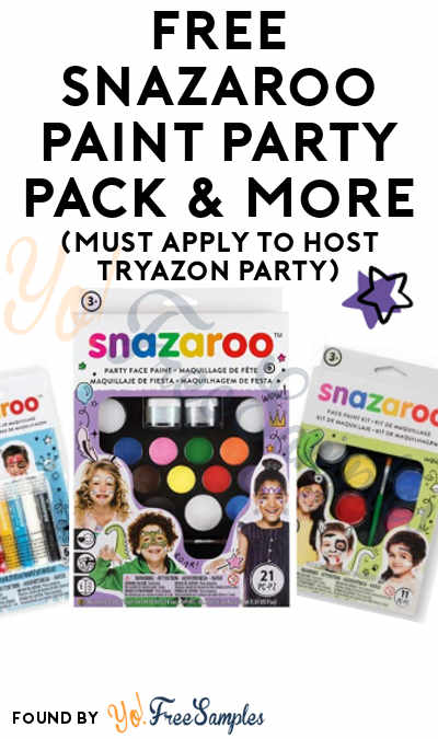 FREE Snazaroo Paint Party Pack & More (Must Apply To Host Tryazon Party)
