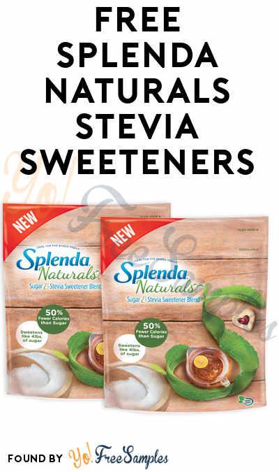 FREE Splenda Naturals Stevia Sweeteners (Mom Ambassador Membership Required)