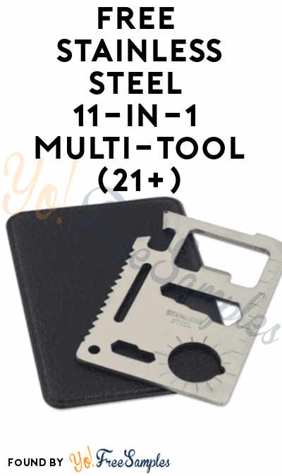 Back In Stock: FREE Stainless Steel 11-in-1 Multi-Functional Tool (21+)