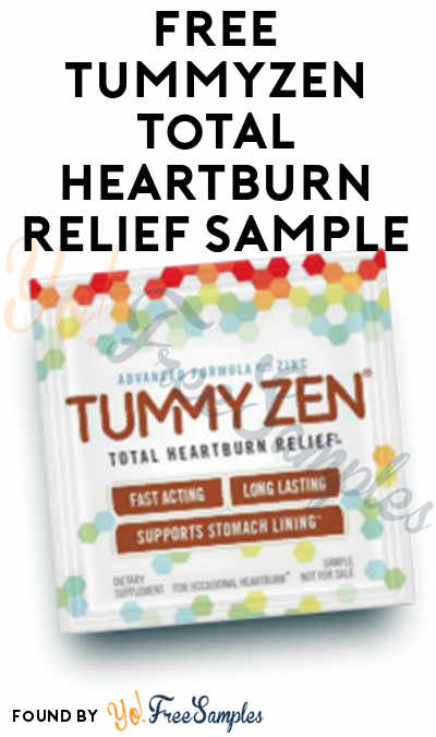 FREE TummyZen Total Heartburn Relief Sample [Verified Received By Mail]