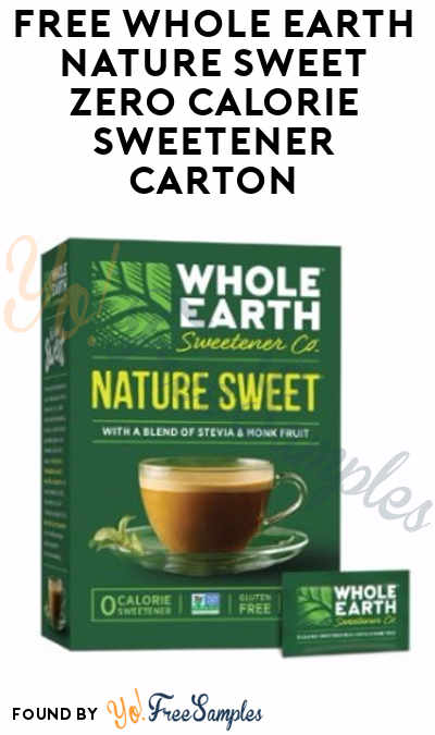FREE Whole Earth Nature Sweet Zero Calorie Sweetener Carton From ViewPoints (Survey Required)
