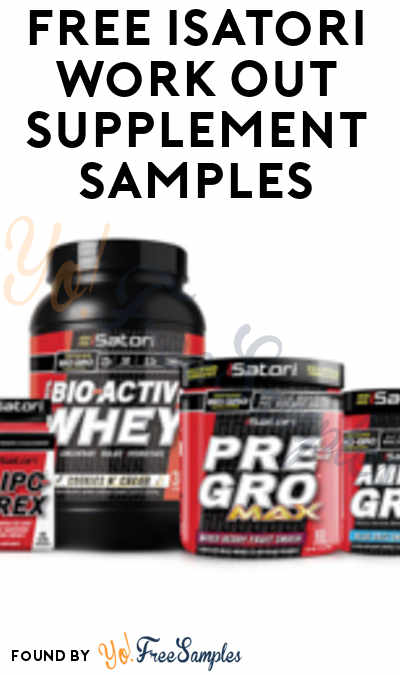 FREE iSatori Work Out Supplement Samples