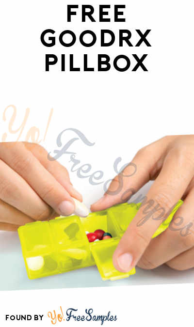 FREE 7-Day Pillbox From GoodRx [Verified Received By Mail]