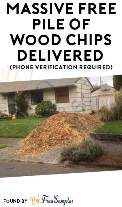 Massive FREE Pile Of Wood Chips Delivered (Phone Verification Required)