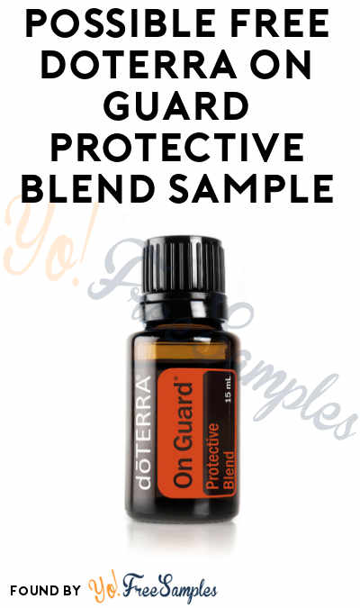 Possible FREE doTERRA On Guard Protective Blend Sample