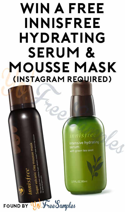 Win A FREE innisfree Hydrating Serum & Mousse Mask (Instagram Required)