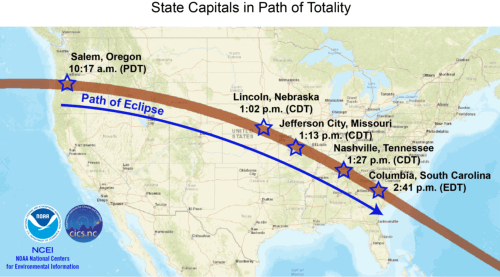 August 2017 eclipse map