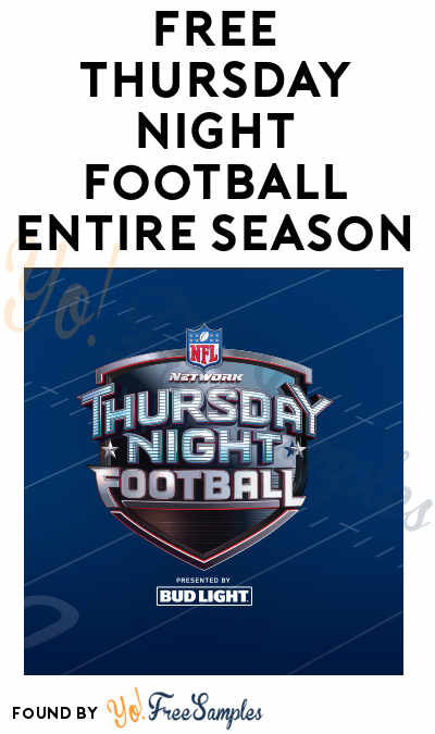Starting 9/28: FREE Thursday Night Football Entire Season Live On Amazon Prime
