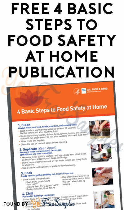 FREE 4 Basic Steps to Food Safety at Home