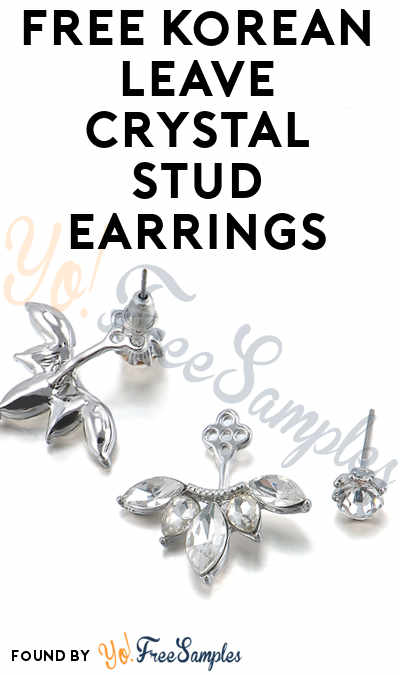 Possible FREE Korean Leave Crystal Stud Earrings From Palm Mute For Review (Facebook Required) [Verified Received By Mail]