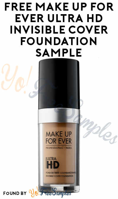 Score a free Make Up For Ever Ultra HD Invisible Cover Foundation sample. Hurry before they run out, SoPost offers always go very fast but they ship fast too.