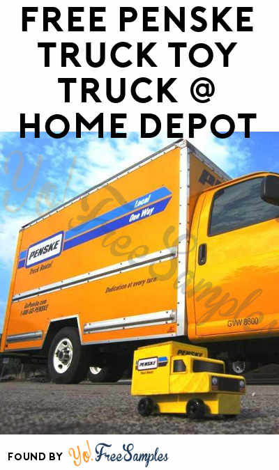 FREE Penske Truck Toy at Home Depot on August 5th 2017 9AM-12PM