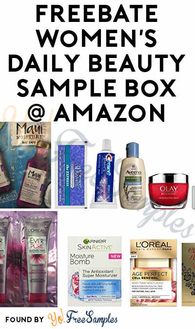FREEBATE Women's Daily Beauty Sample Box For Amazon Prime Members