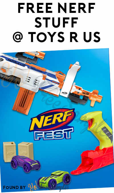 FREE Nerf Nitro Car 2-Pack, Accustrike Darts 6-Pack, Blaster Testing & More At Toys R Us Stores August 26th