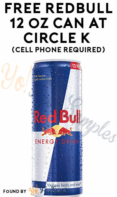 FREE Redbull 12 oz Can At Circle K (Cell Phone Required)