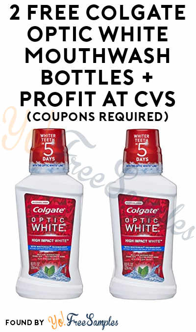 2 FREE Colgate Optic White Mouthwash Bottles + Profit At CVS (Coupons Required)