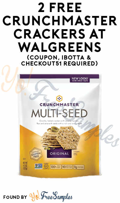 2 FREE Crunchmaster Crackers + Profit At Walgreens (Coupon, Ibotta & Checkout51 Required)