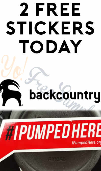 2 FREE Stickers Today: #IPumpedHere Sticker & Backcountry Goat Stickers