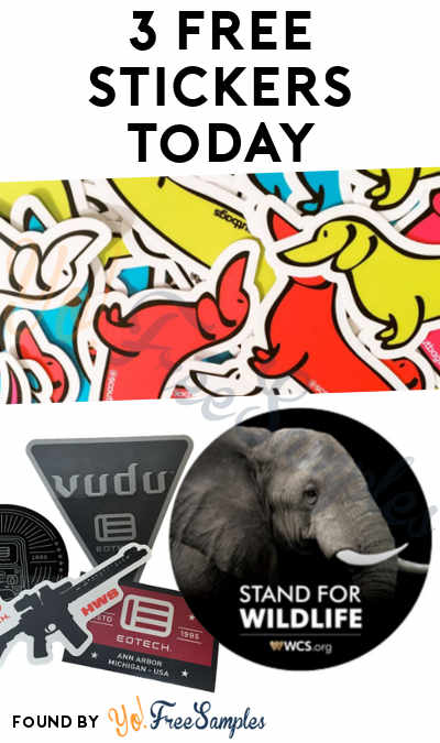 3 FREE Stickers Today: SCOUT Daschund Sticker, EOTech Sticker & I Stand For Wildlife Sticker