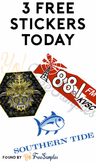 3 FREE Stickers Today: Southern Tide Stickers, Lost Theory Stickers & KVSC Sticker