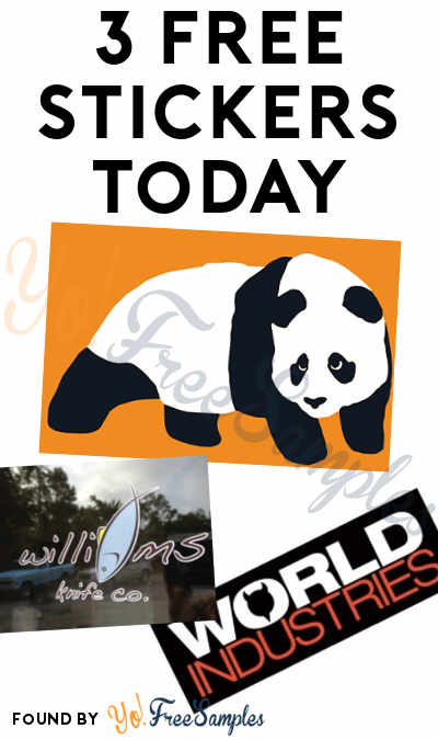 3 FREE Stickers: enjoi Skateboarding Panda Sticker, World Industries Stickers & Williams Knife Sticker