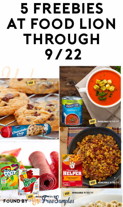 LAST DAY: FREE Pillsbury, Progresso, Fruit Foll Ups, Hamburger Help & Honey Nut Coupons At Food Lion (One Freebie Per Day Through 9/22)