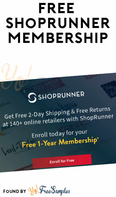 FREE 12-Month ShopRunner Membership