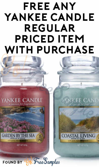 Rare Coupon: FREE Any Yankee Candle Regular Priced Item With Purchase