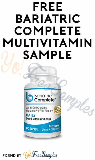 FREE Bariatric Complete Multivitamin Sample