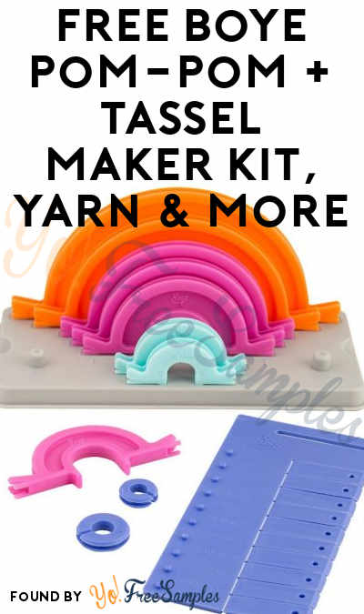 FREE Boye Pom-Pom + Tassel Maker Kit, Yarn & More (Must Apply To Host Tryazon Party)