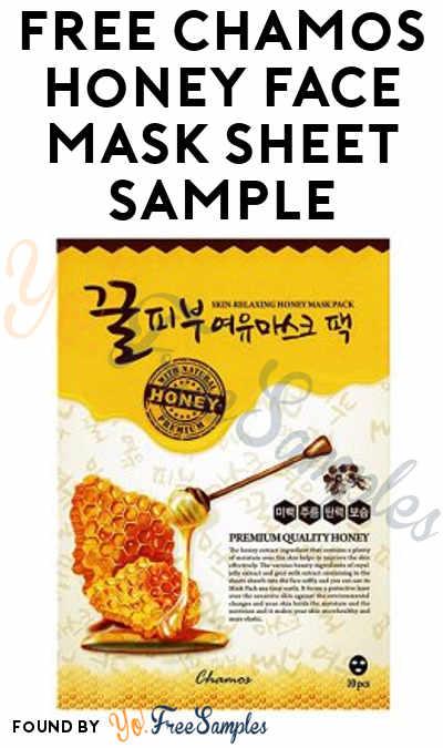 FREE Chamos Honey Face Mask Sheet Sample From Vitamins Basket
