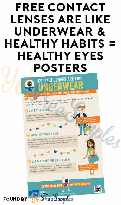 FREE Contact Lenses Are Like Underwear & Healthy Habits = Healthy Eyes Posters
