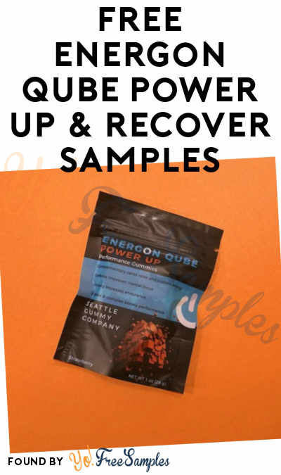 FREE Energon Qube Power Up & Recover Samples [Verified Received By Mail]