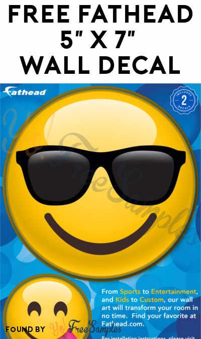 FREE Fathead 5″ x 7″ Wall Decal