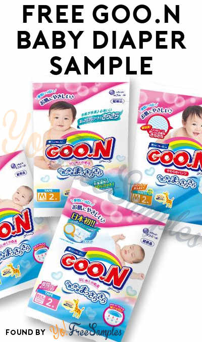 FREE GOO.N Baby Diaper Sample For First 100