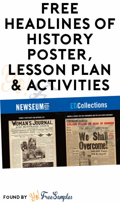 FREE Headlines Of History Poster, Lesson Plan & Activities