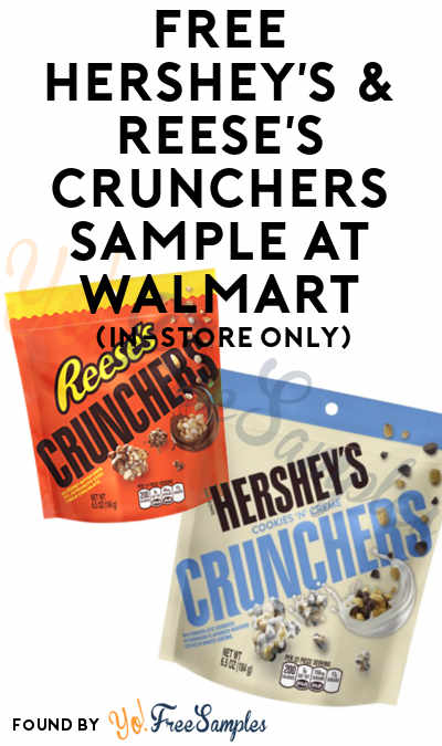 TODAY: FREE Hershey's & Reese's Crunchers Sample At Walmart On September 9th (In-Store Only)