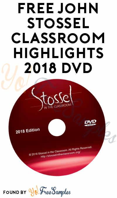 FREE John Stossel Classroom Highlights 2018 & 2019 DVD