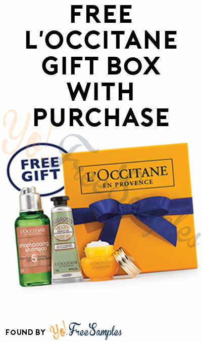 FREE L'Occitane Gift Box With Purchase [Verified Received By Mail]