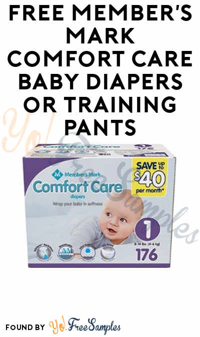 Ends Soon: FREE Member's Mark Comfort Care Baby Diapers or Training Pants From ViewPoints (Survey Required)