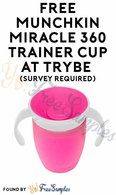 FREE Munchkin Miracle 360 Trainer Cup At Trybe (Survey Required)
