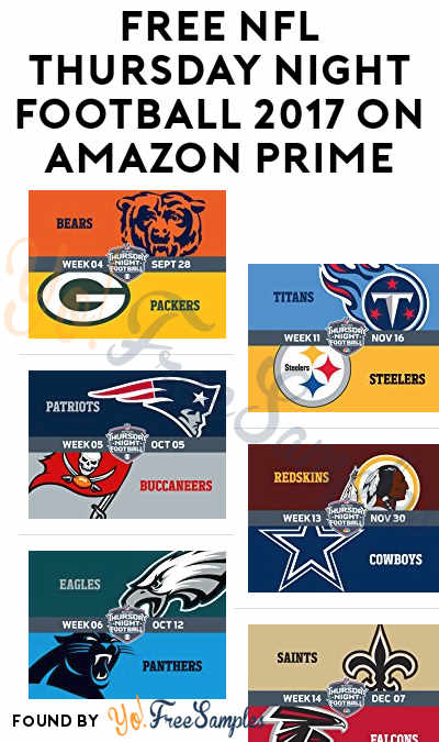 FREE NFL Thursday Night Football 2017 On Amazon Prime