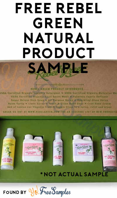 FREE Rebel Green Natural Product Sample (Email Confirmation Required)