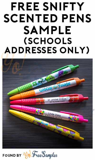 FREE Snifty Scented Pens Sample (Schools Addresses Only)